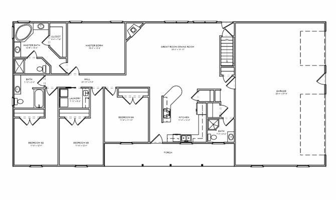 Great Room Ranch House Plan Houseplan