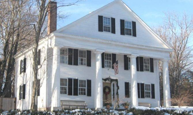 Greek Revival Small Town New England