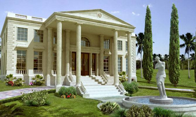 Greek Style House Home Design