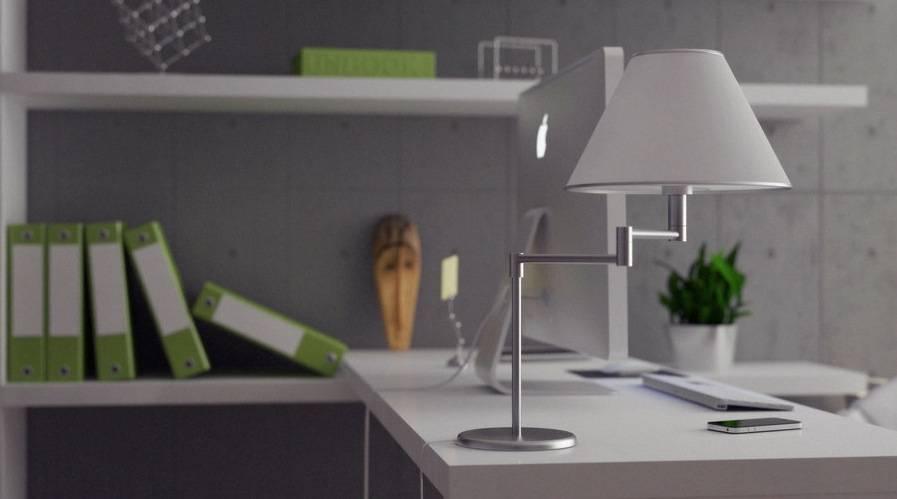 Green Gray White Home Office Interior Design Ideas