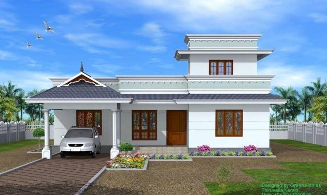 Green Homes Kerala Bhk Single Storey House Feet