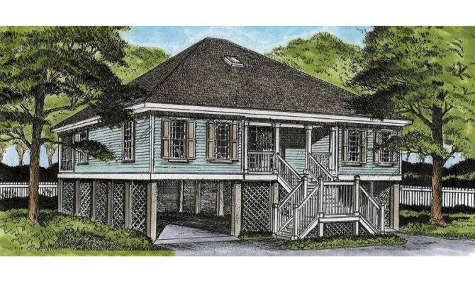 Green Park Raised Cottage Home Plan House Plans More