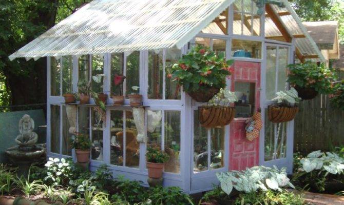 Greenhouses Made Old Windows Doors Home