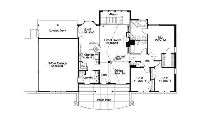 Greensaver Atrium Berm Home Plan House Plans More