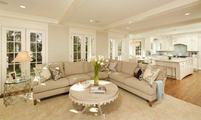 Grey Kitchen Living Room