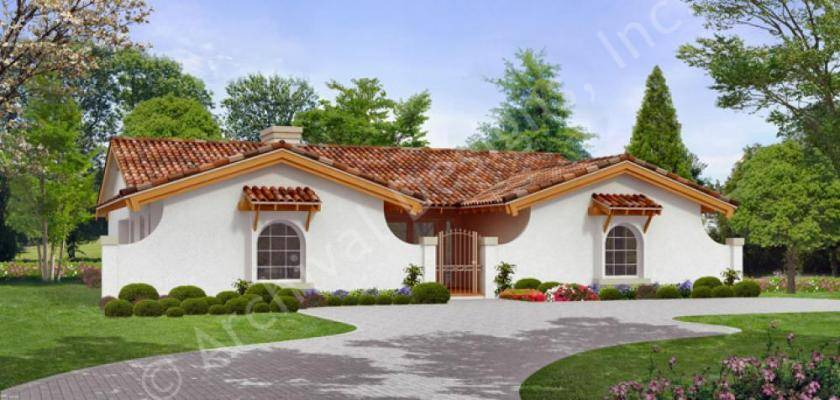 Hacienda House Plans Home Archival Designs