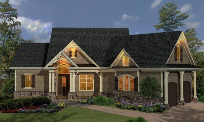 Half Brick Wall Black Roof Small Garden French Country Inspired Homes