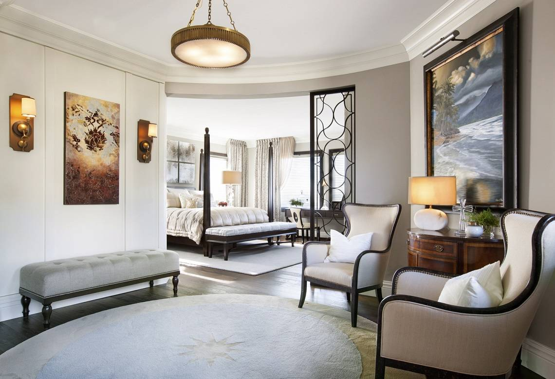Hamptons Inspired Luxury Home Bedroom Robeson Design