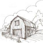 Hand Drawn Illustration Farm Vector Art