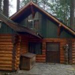 Hand Hewn Log Cabin Foothills Oregon Mount