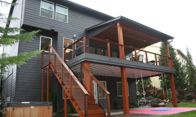 Happy Valley Main Floor Remodel Modern Deck Portland
