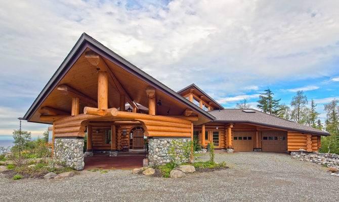Harmonious Contemporary Log Homes House Plans