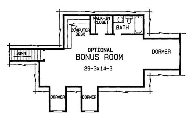 Harmonious House Plans Bonus Room
