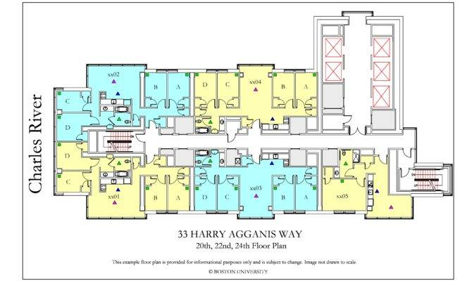 Harry Agganis Way Floor Plan Housing Boston University