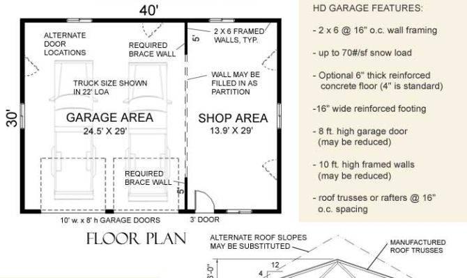 Heavy Duty Suv Truck Garage Shop Plan Hdr