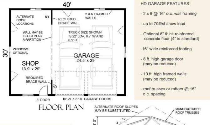 Heavy Duty Suv Truck Garage Shop Plan