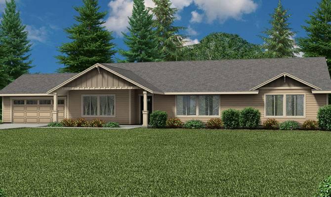 Helens Ranch Style Custom Home Floor Plan Dual Master Suite
