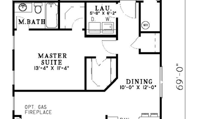 Hemistone Narrow Lot Ranch Home Plan House