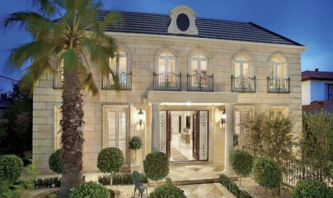 Here Features French Provincial House Style Plan
