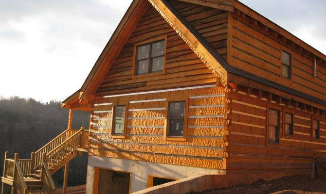 Hewn Log House Plans Home Design Style