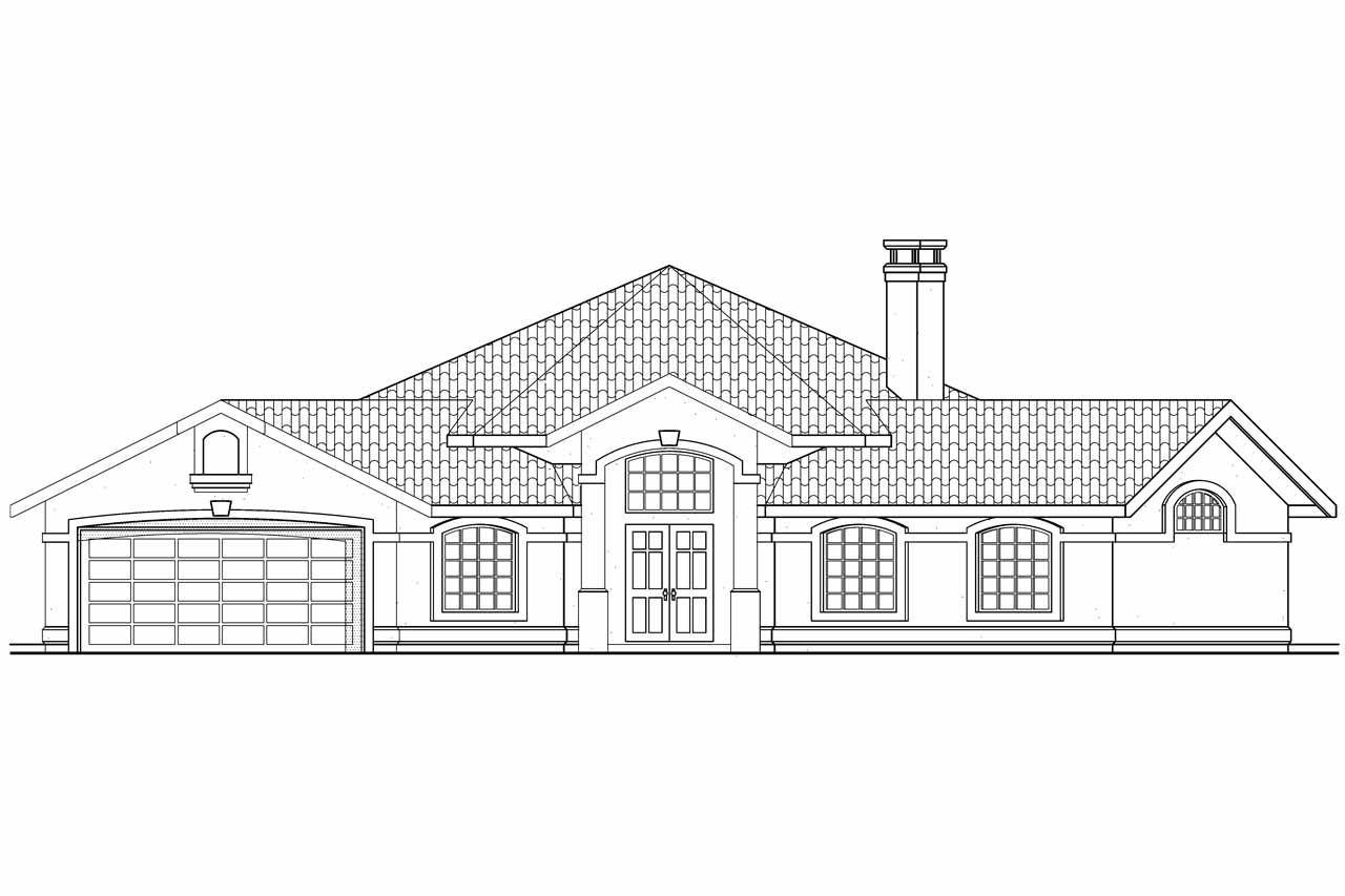 Hexagonal House Plan Sierra Front Elevation