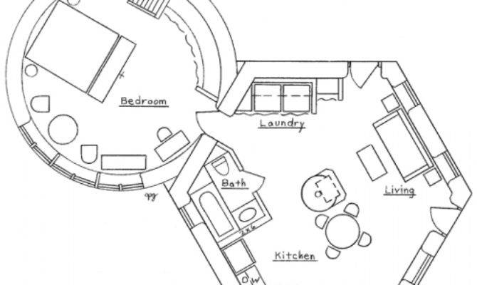 Hexagonal Round House Plan