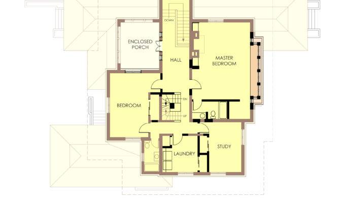 Hills Decaro House Second Floor Plan Post Fire