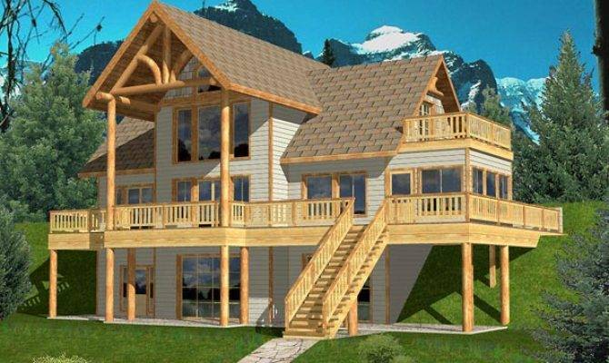 Hillside Garage Plans House Home Designs
