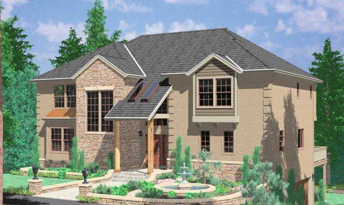 Hillside Home Plans Basement Sloping Lot House