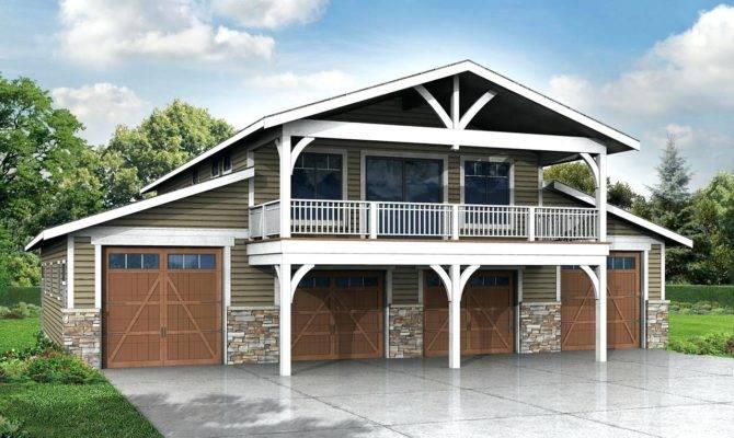 Hillside House Plans Garage Underneath Door Simple