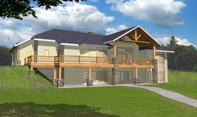 Hillside Sloped Lot House Plans Home Design Style
