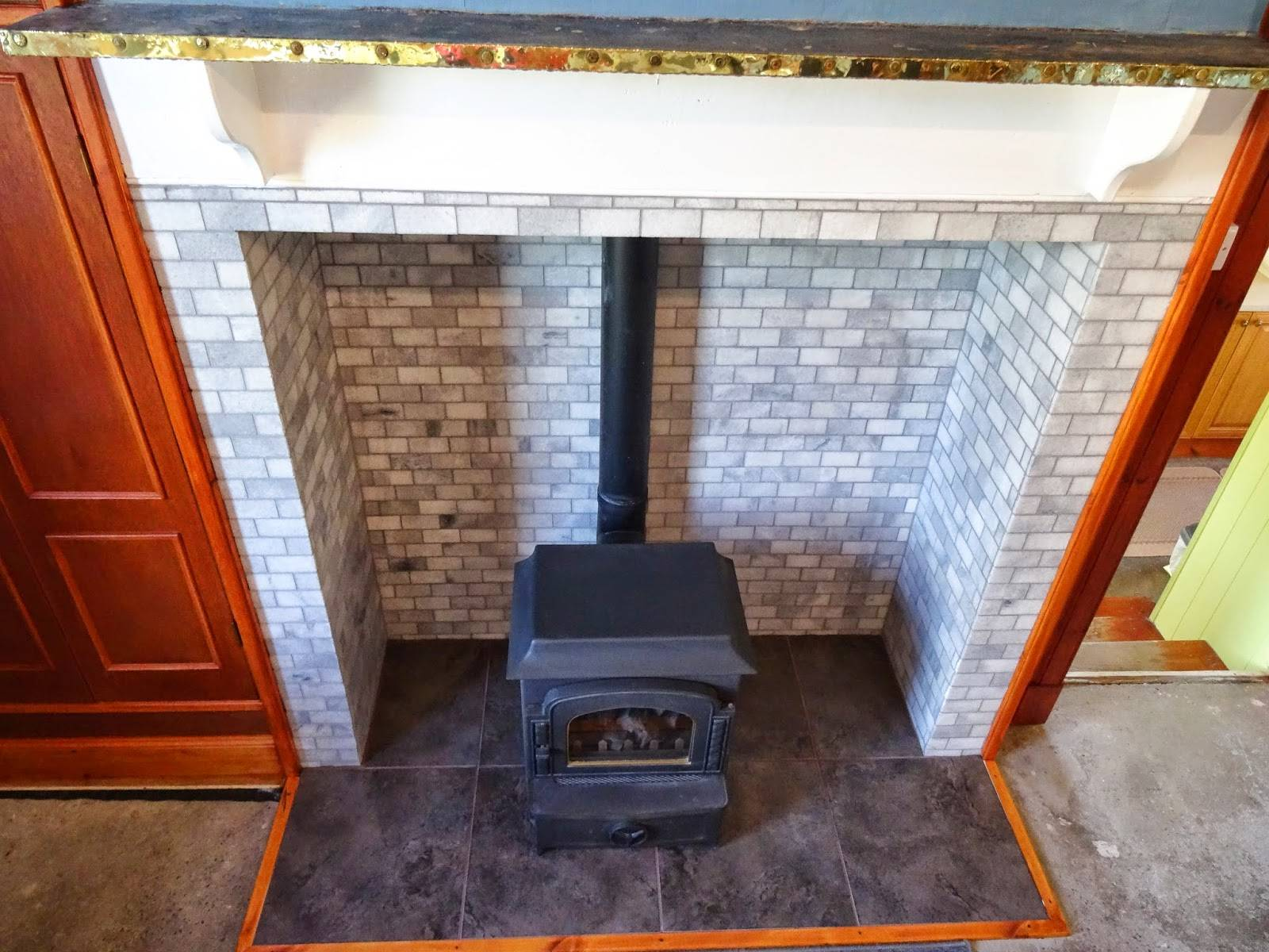History Farmhouse Fireplace British Ceramic Tile Makeover