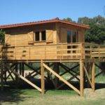 Holiday Home Stilts Suspended Wood Structure Youtube