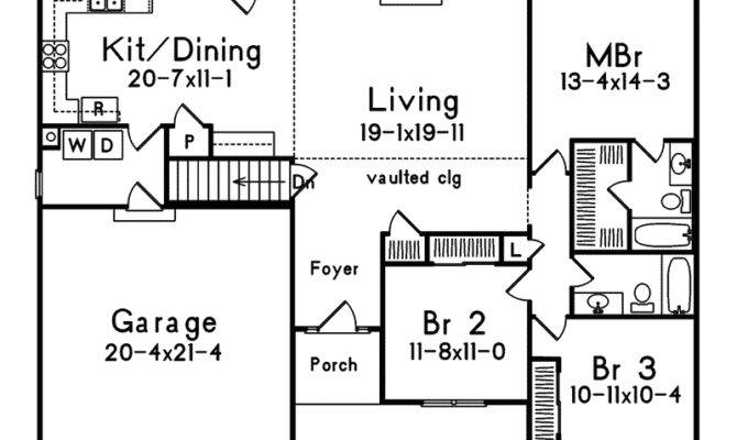 Hollybridge One Story Home Plan House Plans