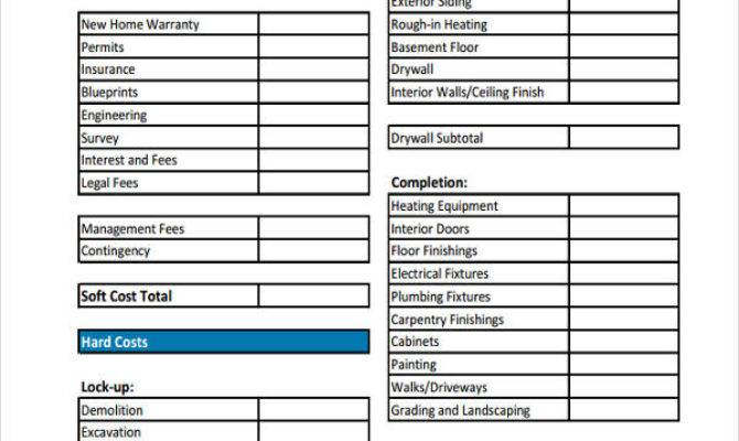 Home Budget Templates Sample Example Format
