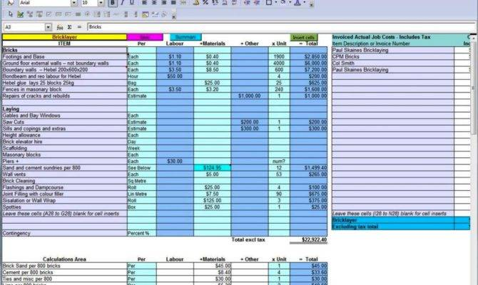 Home Building Budget Template Sampletemplatess