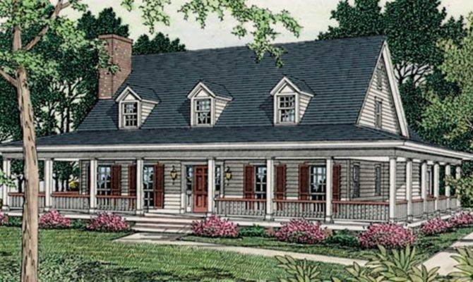 Home Country Decor One Story House Plans
