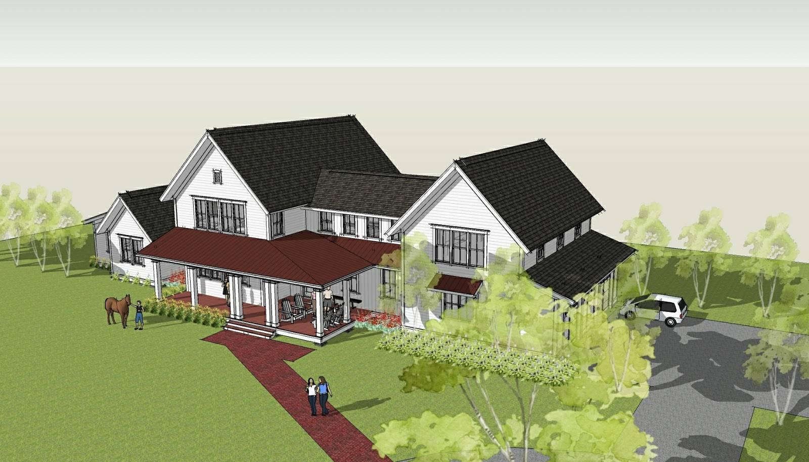 Home Design Modern Farmhouse Ron Brenner Architects