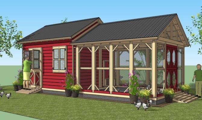 Home Garden Plans Combo Chicken Coop