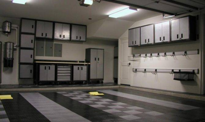 Home Ideas Cool Garage Cabinet Design