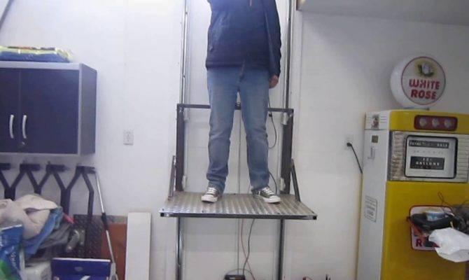 Home Made Shop Garage Elevator Youtube