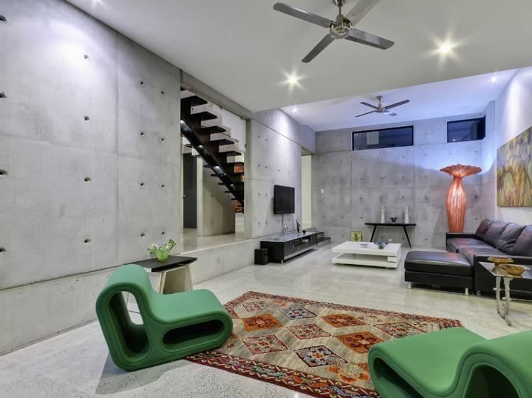 Home Plan Contemporary Concrete Plans