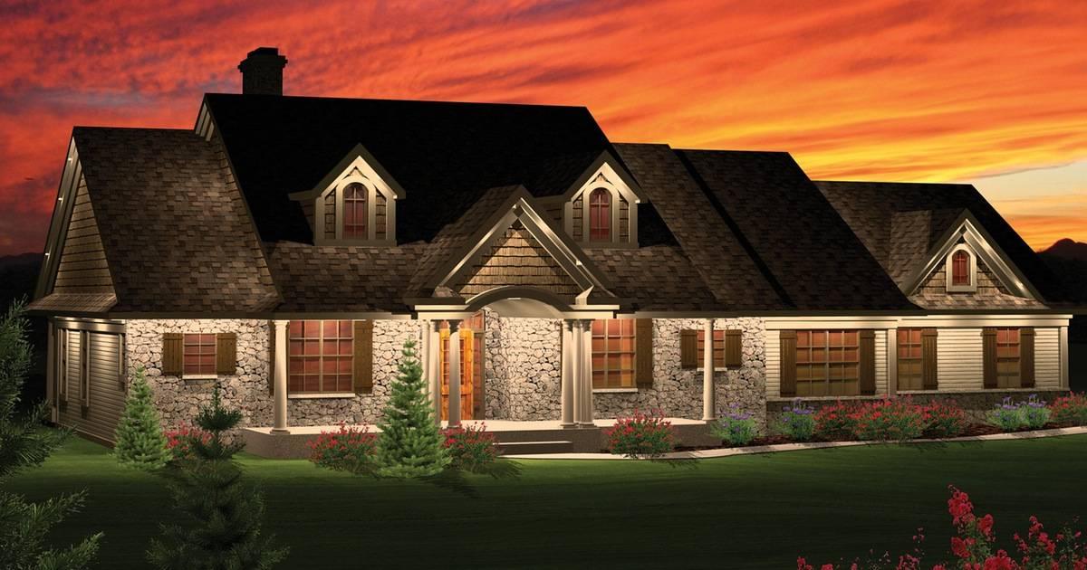 Home Plan Rambling Ranch New Century Startribune
