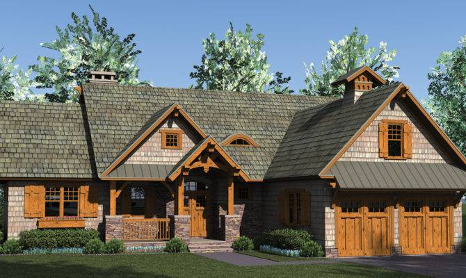 Home Plan Rustic Craftsman Open Lots Storage