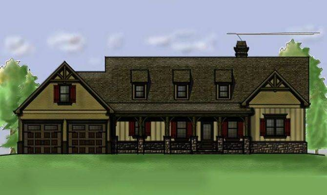 Home Plan Walkout Basement Porches Creek Crossing House
