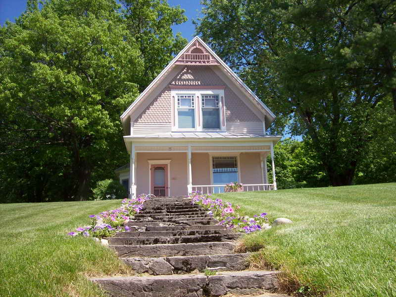 Home Plans Cottage Design Ideas Stone Path Vissbiz