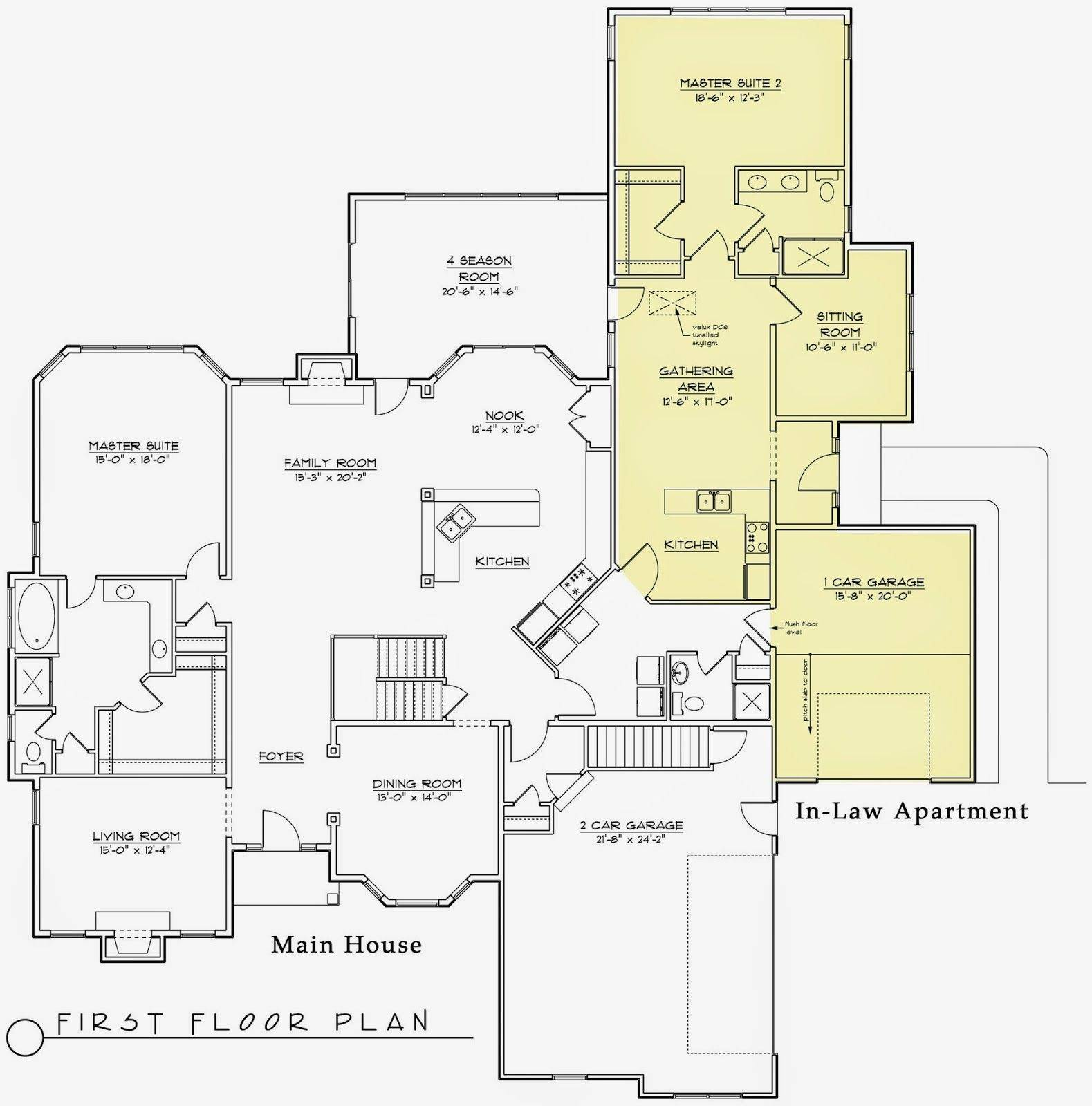 Home Plans Separate Inlaw Quarters