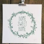 Home Sweet Risograph Art Print Prints Posters