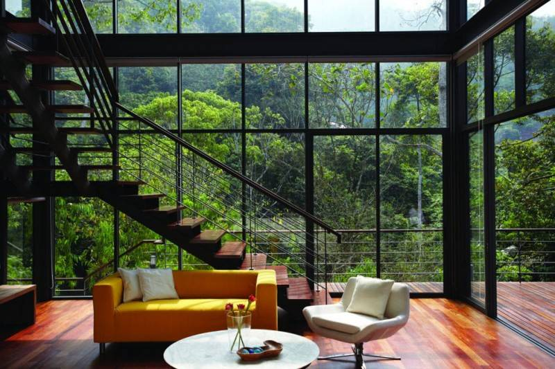House Amazing Views Forest Living Room Choo