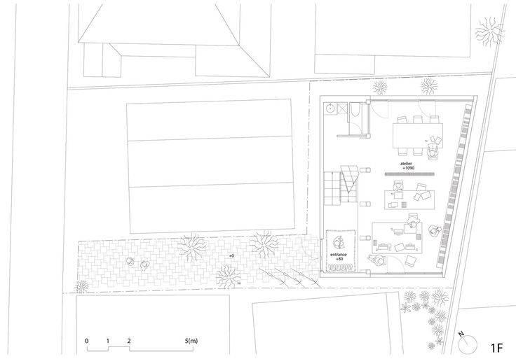 House Atelier Bow Wow Plan Villa Pinterest